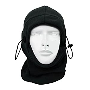 Buy Black Multi-Task Outdoor Sports Motocycle Bicycle Fleece Bicycle Tactical Balaclava Full Face Hood Neck Warmer Mask by KingTech