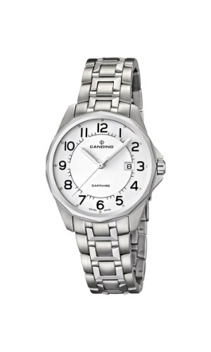 Candino C4492/1 - Reloj analógico de cuarzo para mujer con correa de acero inoxidable, color plateado