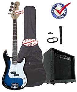 Electric Bass Guitar Pack with 20 Watts Amplifier Blueburst from Other