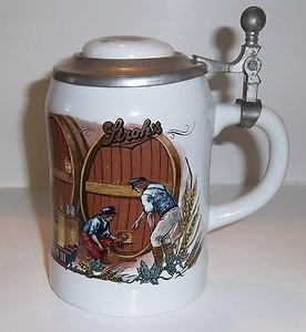 Strohs Lidded Beer Stein~Bavaria Collection Stein #3