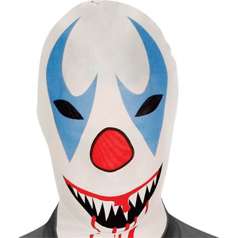 Morphsuits Morphmask Premium Killer Clown, White/Red/Blue/Black, One Size