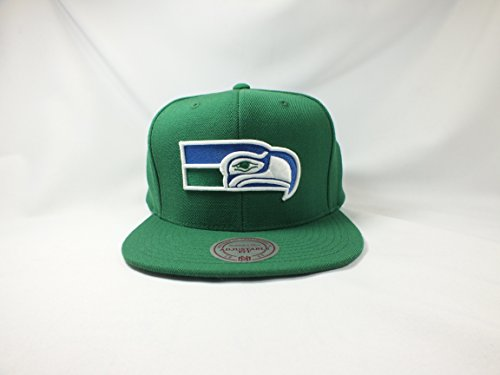 Seattle-Seahawks-Nfl-Green-Snapback-Flat-Brim-Cap-New