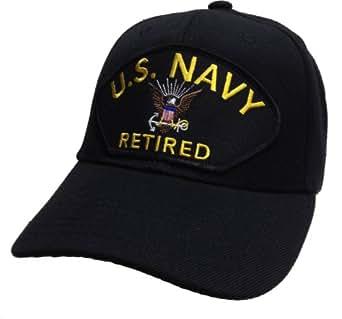 Amazon Com Us Navy Retired Hat Black Ball Cap Clothing