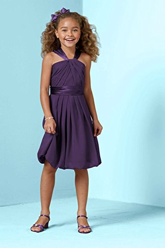 Y Neck Crinkle Chiffon and Charmeuse Dress Style JB4215, Lapis, 10 Charmeuse Maternity Bridesmaid Dress