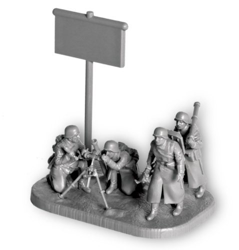 Zvezda Models German 80mm Motar with Crew Snap Fit
