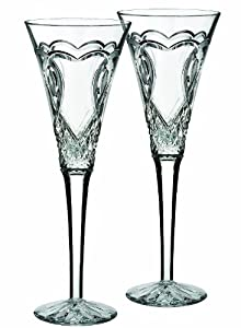 Waterford Wedding Toasting Flute - Lesbian Wedding Champagne Glass