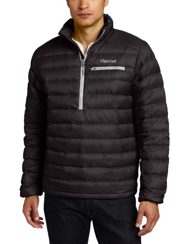 Marmot Zeus Men's Insulated Down Half Zip - Black, Large