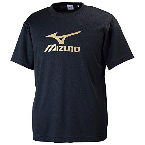 (ミズノ)MIZUNO クロスティックウェア ビッグロゴTシャツ [メンズ] 32JA6155 90 ブラック×ゴールド L