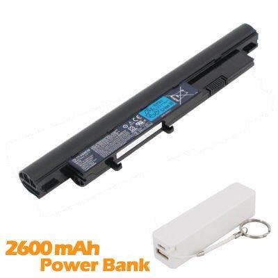 Battpit Batterie d'ordinateur Portable de Remplacement pour Acer Aspire 3810T-S22 (4400mah / 49wh) avec 2600mAh de banque de puissance / batterie exte