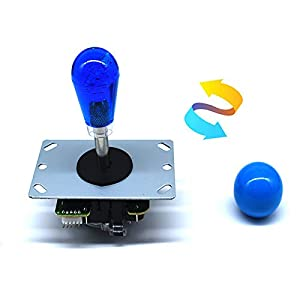 Arcity 2 Player Arcade LED Buttons and Joystick Kits Illuminated DIY Controller USB Encoder to PC Games 8 Ways Joystick Bat Top + 10 LED Push Buttons + Balltop for Windows Jamma MAME Raspberry Pi New (Color: Mix Color)