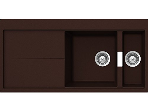 Schock Horizont D-150 A Marone Granitspüle Braunton Auflage Einbau-Spüle Küche