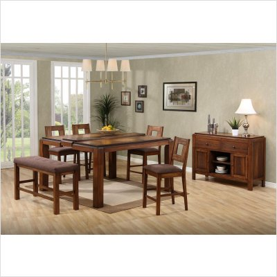 Buy Low Price Lifestyle California Altamonte Counter Height Dining Table in Walnut (22-748)