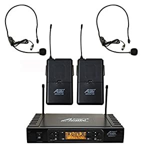 Audio2000s AWM6074 UHF Dual Channel Wireless Microphone System from Audio2000's