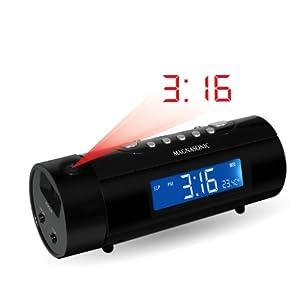 magnasonic mag mm178k am fm projection clock radio with dual alar. Black Bedroom Furniture Sets. Home Design Ideas