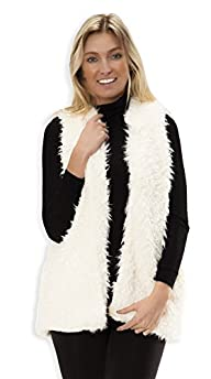 Love Collection Womens Medium Length Faux Fur Vest