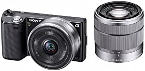 Sony NEX5DB Alpha Compact System Camera - 16mm F2.8 and 18-55mm F3.5-5.6 OSS Lens Black