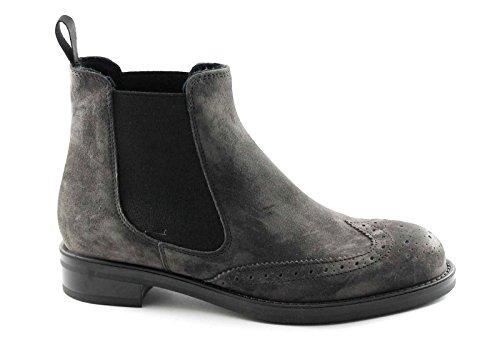 FRAU 98B7 lavagna grigio scarpe donna stivaletti tronchetti beatles inglese 38
