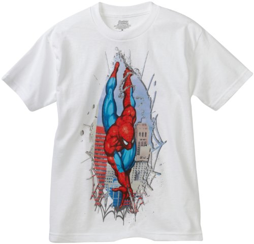 Marvel Big Boys' Spider-Man Rip Short-Sleeve T-Shirt