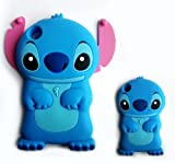 Focus Blue Disney Movable Ear Flip Cute 3D Stitch soft Case for Apple ipod touch 4 Xmas Gift+1 stitch touch pen