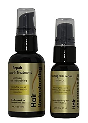 Repair Leave-in Treatment and Finishing Serum Kit - Temporary Hair Straightening