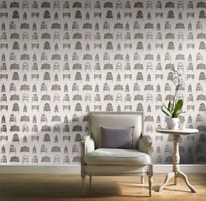 Gran Deco French Chairs Wallpaper - Neutral by New A-Brend