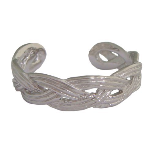 Hawaiian Jewelry Sterling Silver Sailor's Weave Toe Ring