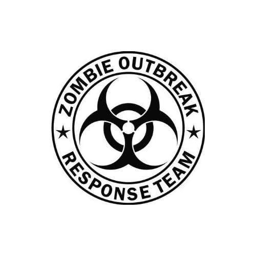 Zombie Outbreak Response Team 5 Black Die Cut Vinyl Decal Sticker