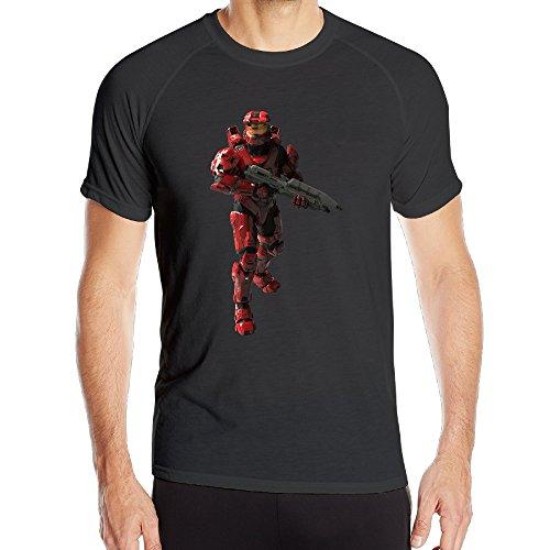 SAMMOI Halo 5 Guardians 4 Men's Cool Short Sleeves T S Black