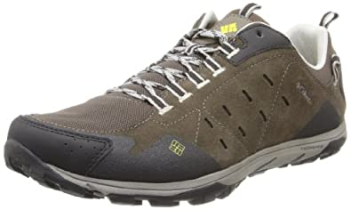 Columbia Men's Conspiracy Razor Leather Trail Shoe,Mud/Chartreuse,8 D US