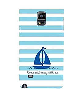 EPICCASE Sail With Me Mobile Back Case Cover For Samsung Galaxy Note 4 EDGE (Designer Case)