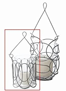 Lazy Susan Ash Hanging Wire Votive, Small