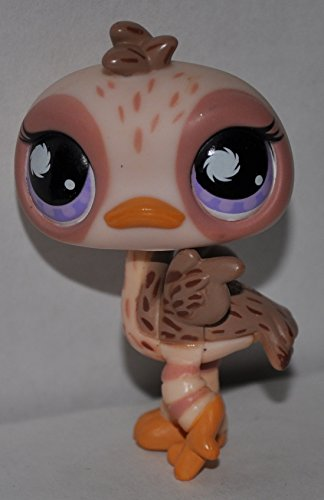 Ostrich #945 (Tan, Purple Eyes) - Littlest Pet Shop (Retired) Collector Toy - LPS Collectible Replacement Single Figure - Loose (OOP Out of Package & Print) - 1