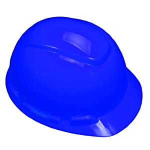 3M Hard Hat, Vented Blue 4-Point Ratchet Suspension H-703V (Pack of 1)