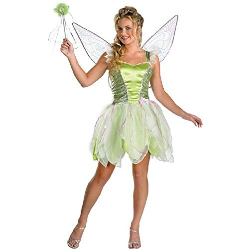 Disguise Womens Tinkerbell Halloween Party Dress Costume