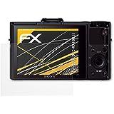 3 x atFoliX Film protection d'écran Sony DSC-RX100 II Film protecteur Protecteur d'écran - FX-Antireflex anti-reflet