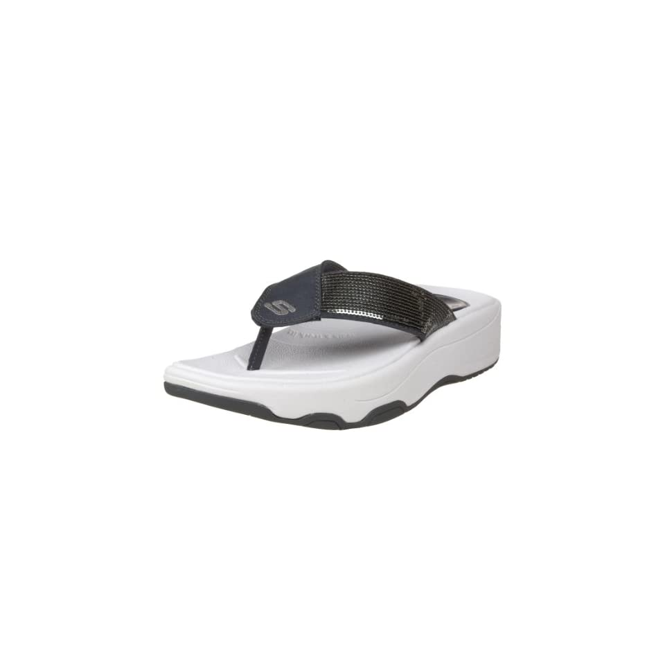 873e1d1ca97f Skechers Womens Tone Ups Shadow Box Thong Sandal