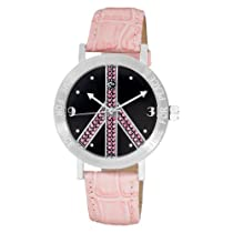 Love Peace and Hope Midsize LPE125 Time for Peace Crystal Accented Watch