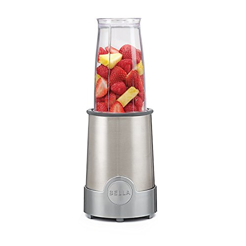 BELLA Personal Size Rocket Blender, 12 piece set, color stainless steel and chrome (Magic Bullet Replacement Pieces compare prices)