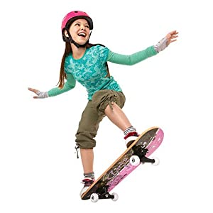 RazorX Girl's Rule Skateboard and Helmet Combo (Small)