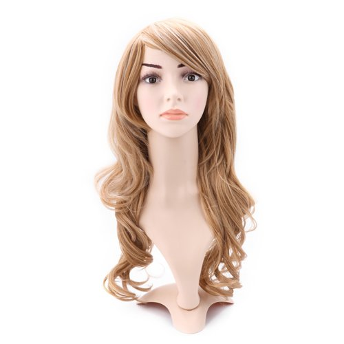 HDE® Long Wavy Dirty Blonde Hairstyle Wig