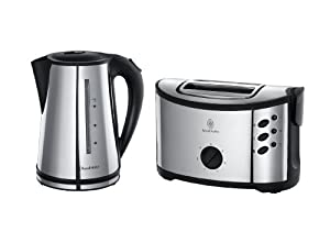 Russell Hobbs 14816 Regent Kettle and 2 Slice Toaster - Twin Pack - Polished Stainless Steel