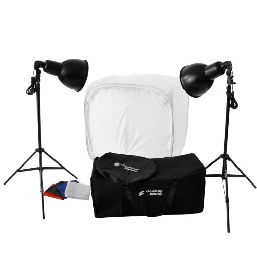 CowboyStudio Photography 800 Watt, 30 Inch Tabletop Tent Continuous Lighting Kit for Photo Studio and Product Photography