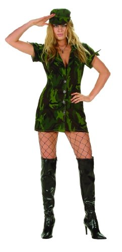 Adult Sexy Military Girl Costume Size X-Large (12-14)