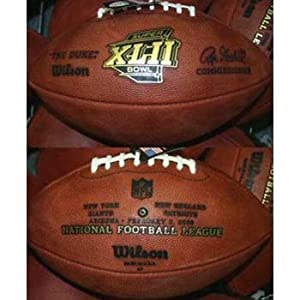 Super Bowl 42 XLII Wilson Official NFL Game Football by Wilson