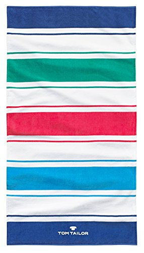 Tom Tailor telo da spiaggia/Asciugamano per la doccia o asciugamano da sauna // Beach Stripes blue 85 x 160 cm (110350908)