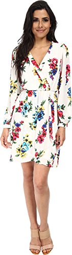 Brigitte Bailey Women's Demri Lux Dress Spring White Floral Dress SM