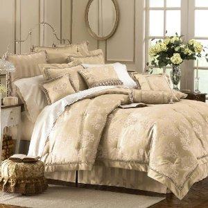 Waterford Dunloe Platinum Comforter Set 4 Pc CAL KING