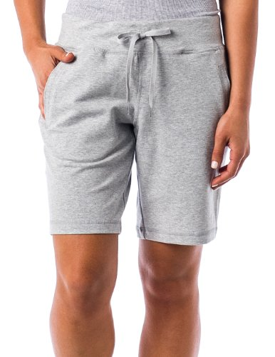 Danskin Soft knit Womens Bermuda Shorts with elastic waist and drawstring