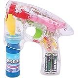 Rhode Island Novelty Light Up Led Transparent Bubble Gun (2 Pack)