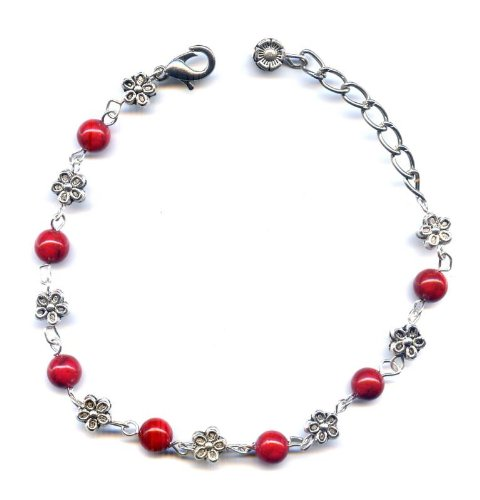 Red Coral Bracelet and flower